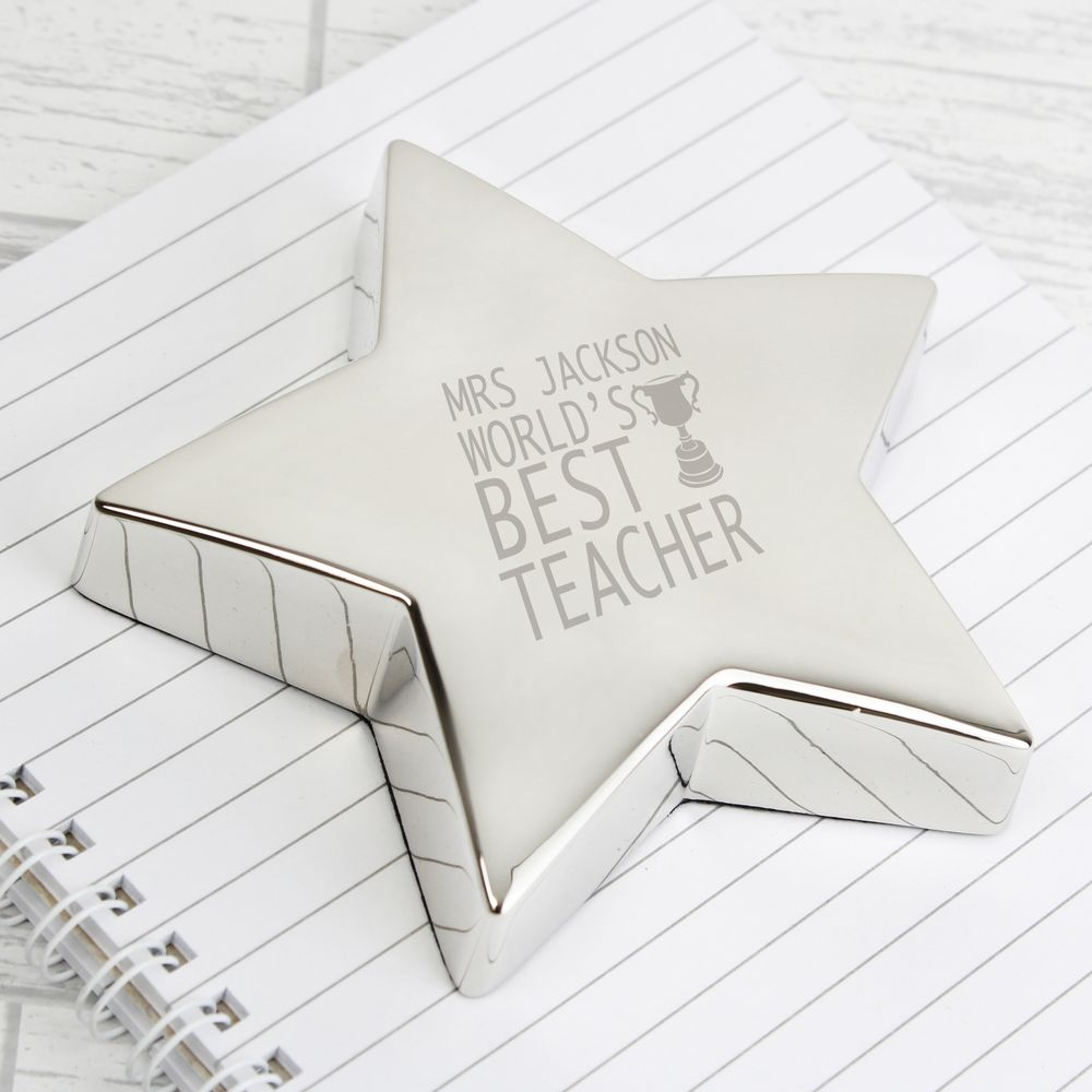 World's Best Teacher Paperweight