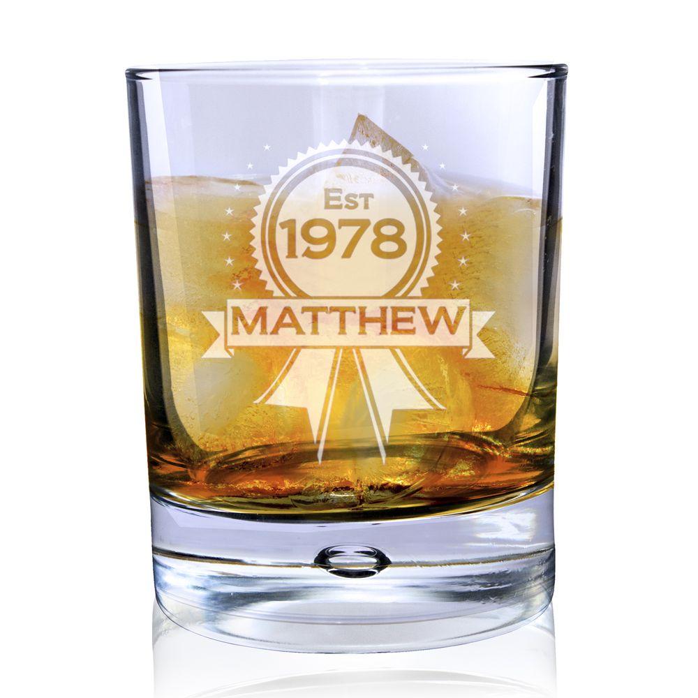Personalised Whisky Glass - Established Rosette