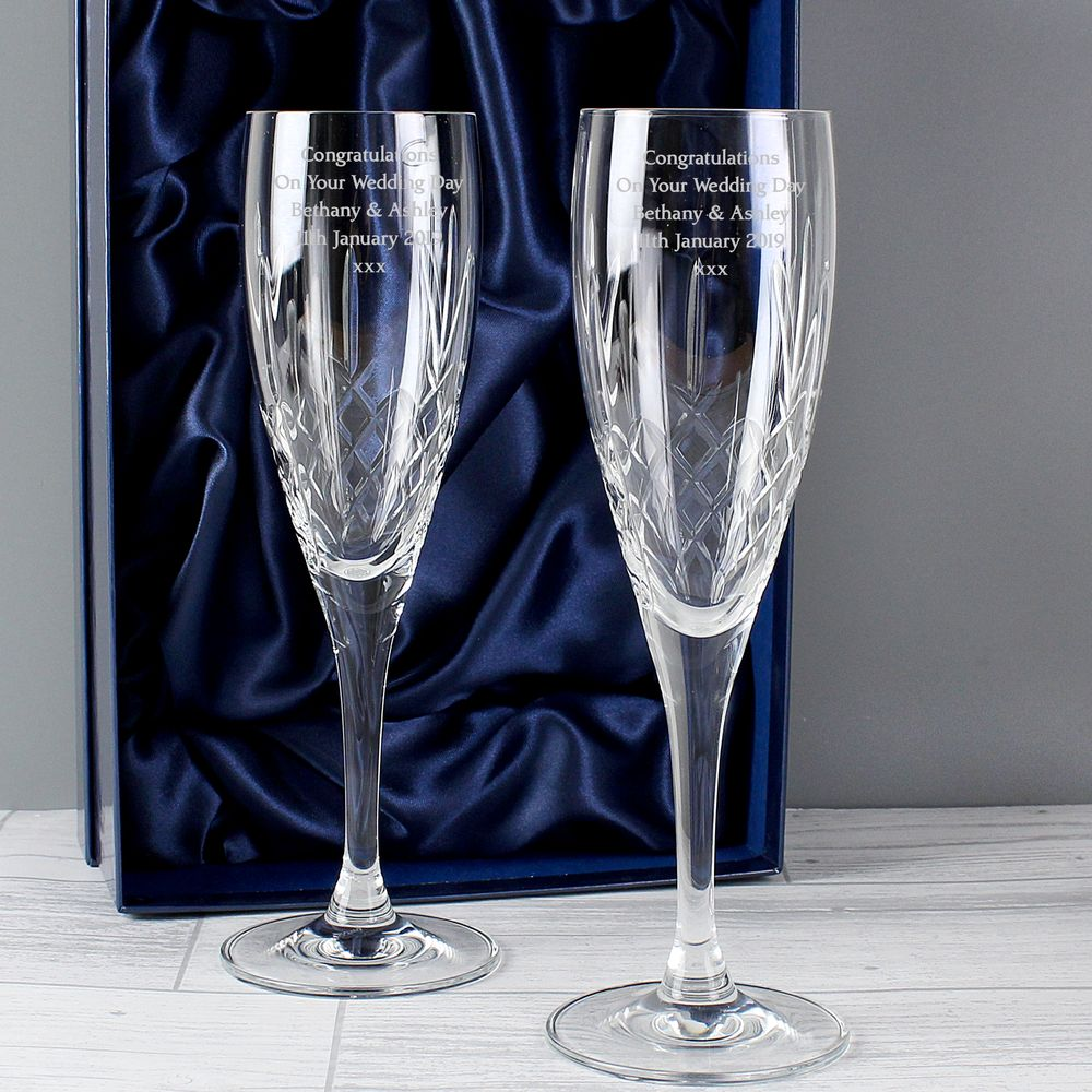 Set of Crystal Champagne Glasses