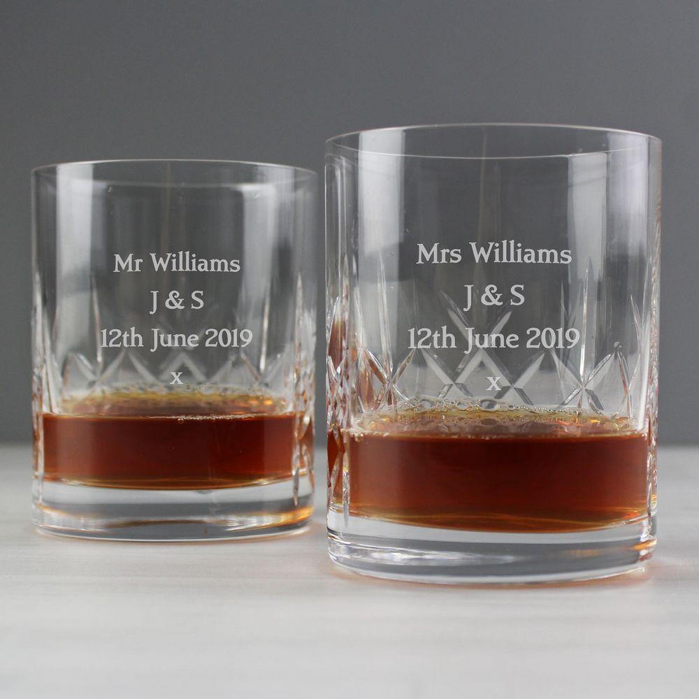 Set of Crystal Whisky Glasses