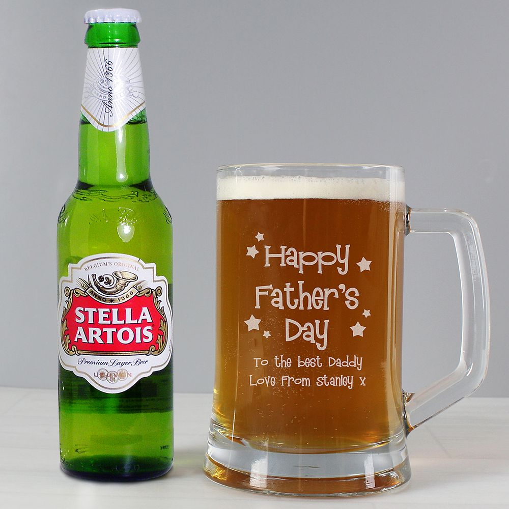 Happy Fathers Day Beer & Glass