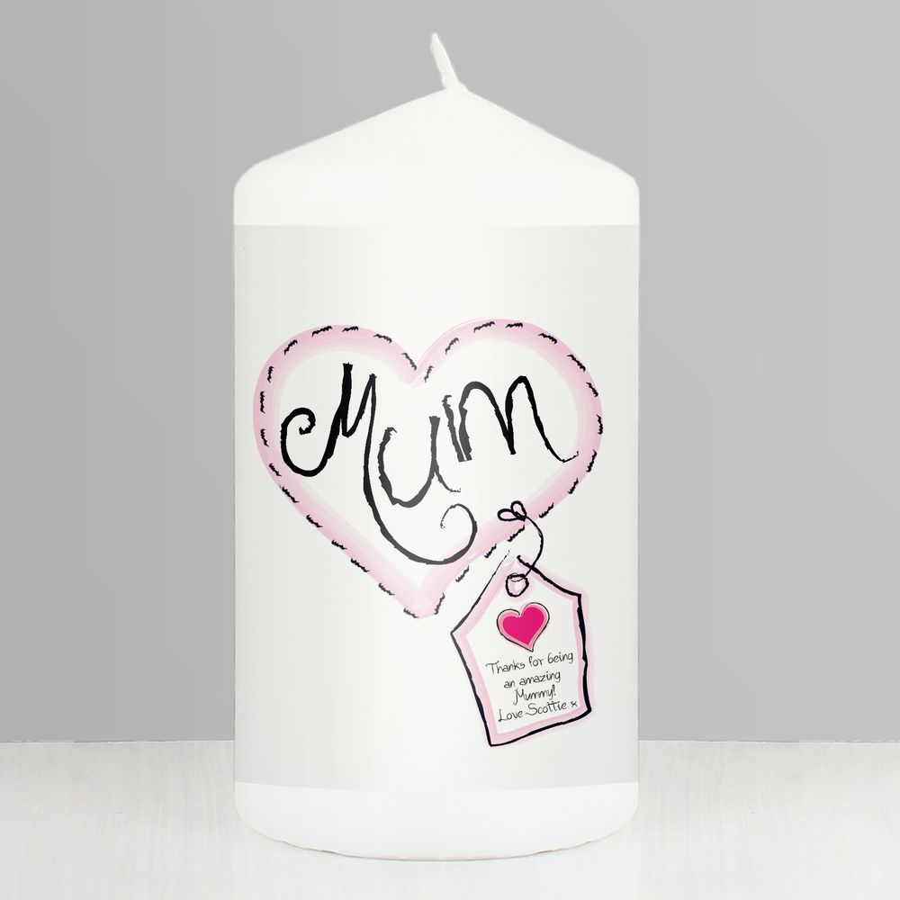 Mum Heart Candle