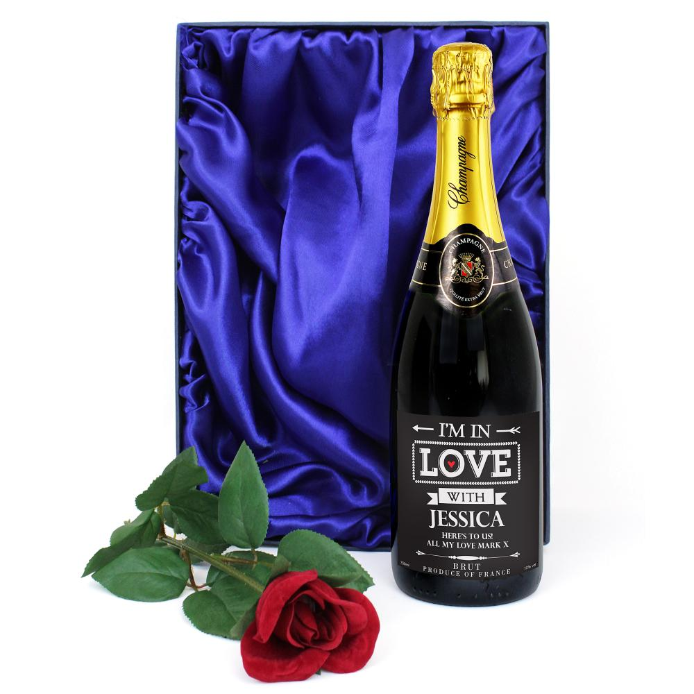 I'm In Love Champagne & Rose Gift Set