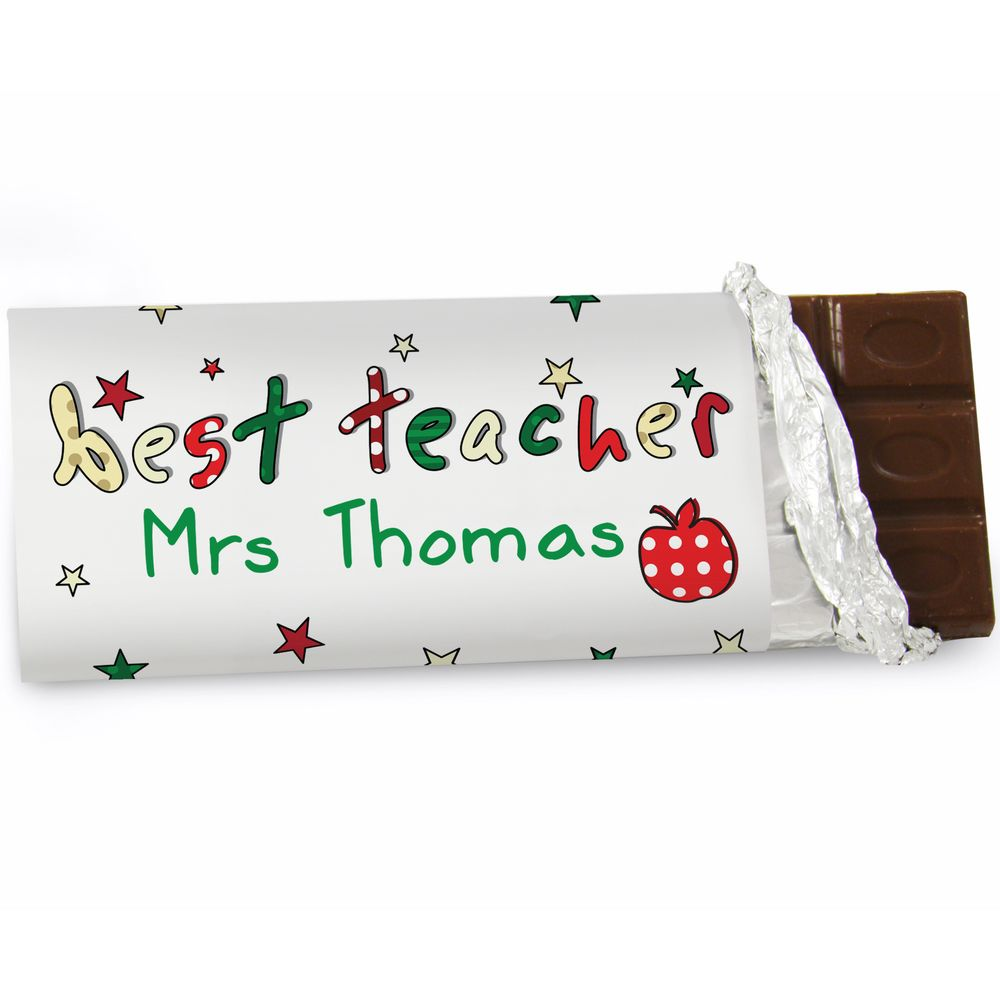 Best Teacher Chocolate Bar