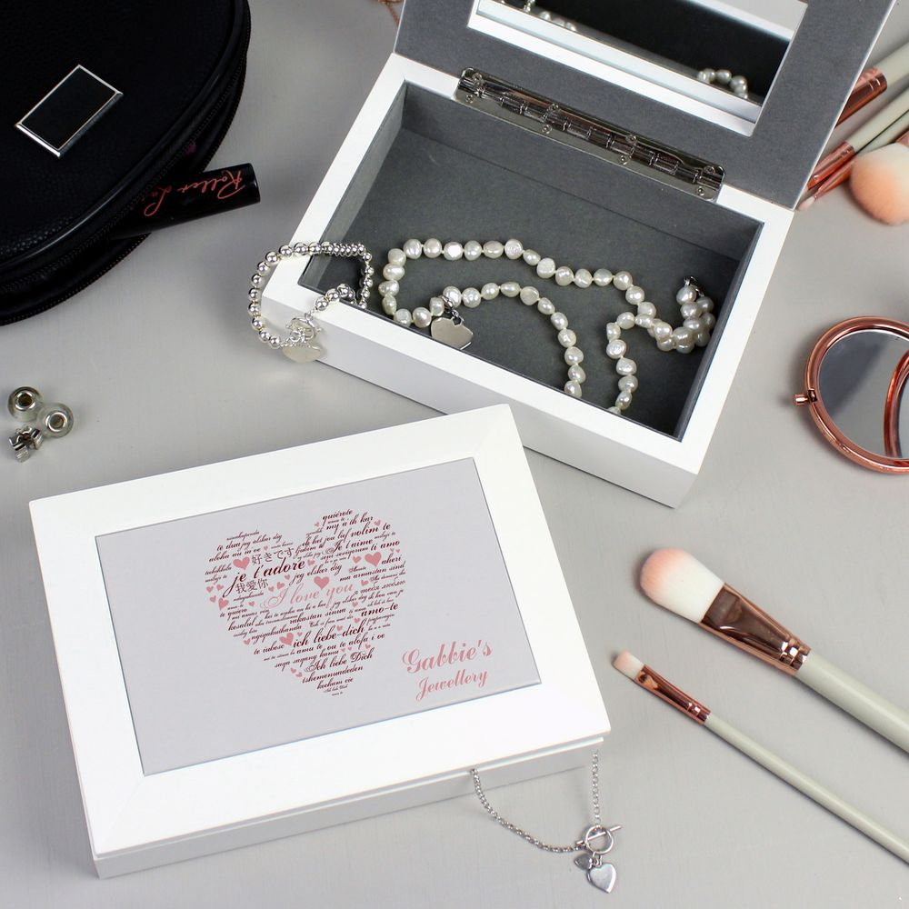 Personalised I Love You Jewellery Box