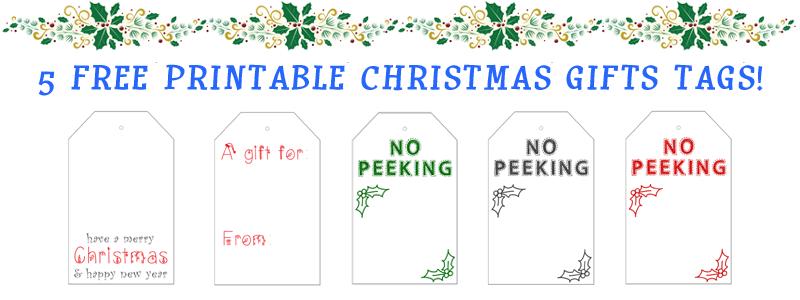 Free printable christmas gift tags negle Images