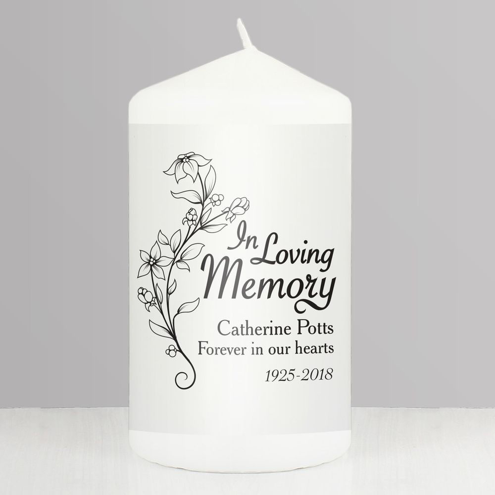 Condolence Candle Sympathy Candle Personalized Soy Candle Sympathy Gift In Loving Memory Candle Gift