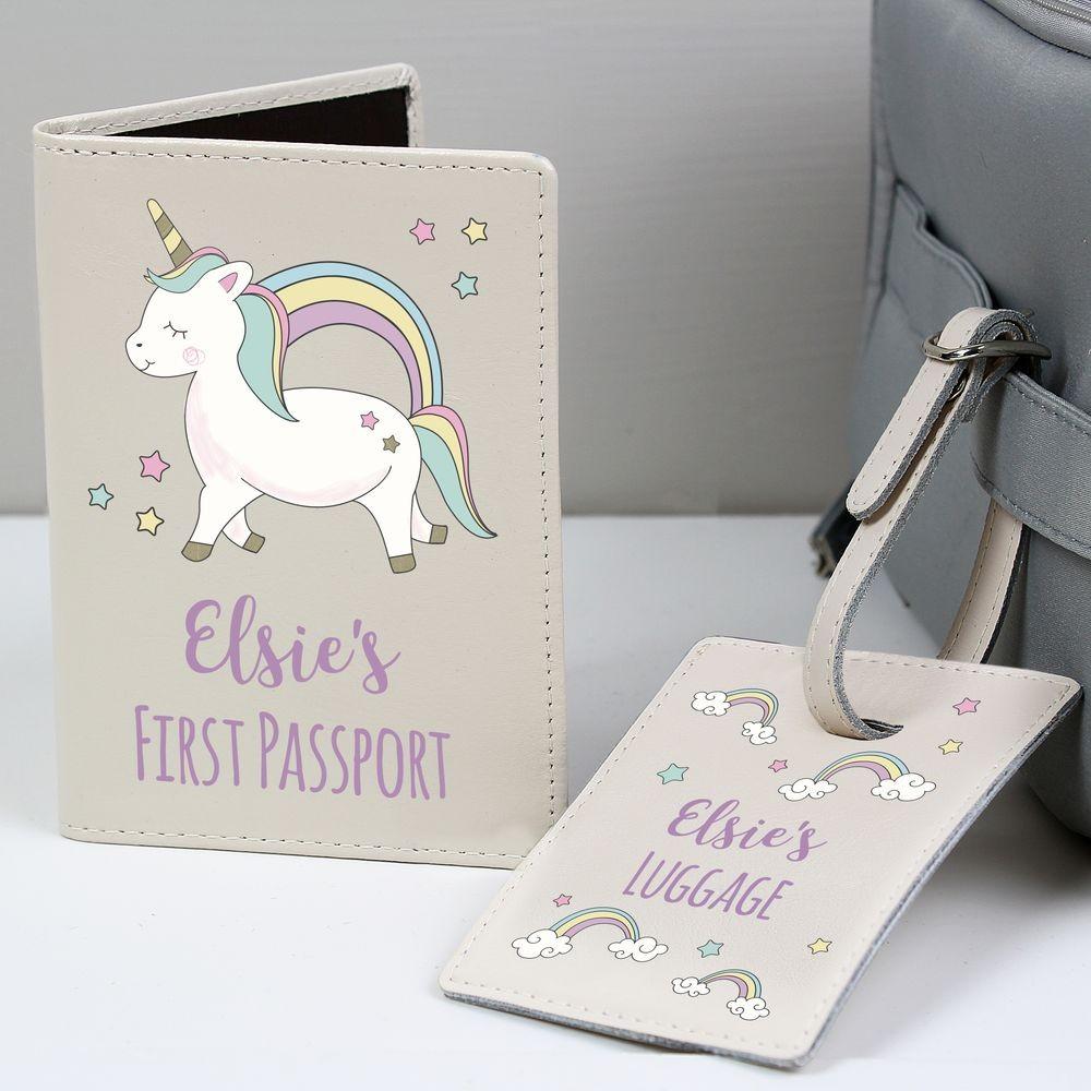 Personalized Double Sided Elephant Leatherette Passport Holder