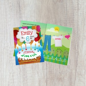 Personalised Counting Birthday Book - Softback