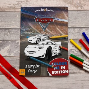 Personalised Cars 3 Colouring Storybook