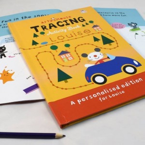 Personalised Arty Mouse Tracing Activity Book - Hardback