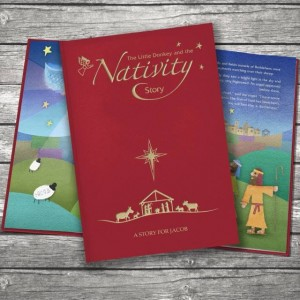 Personalised The Little Donkey and the Nativity Story - Embossed Classic Cloth
