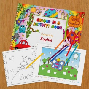Personalised Colour In Activity Book - A4
