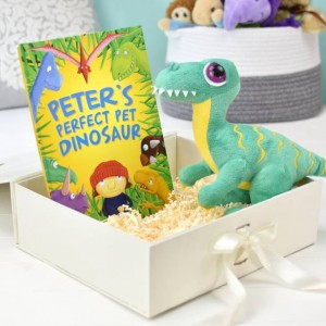 Perfect Pet Dinosaur Personalised Story Book and Plush Toy Giftset