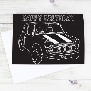 Personalised Black & White Mini Card