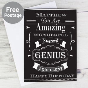 "Personalised ""You Are Amazing"" Vintage Typography Card"