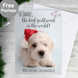 Personalised Rachael Hale Terrier Christmas Card