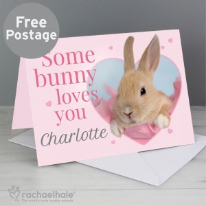"Personalised Rachael Hale ""Some Bunny"" Card"