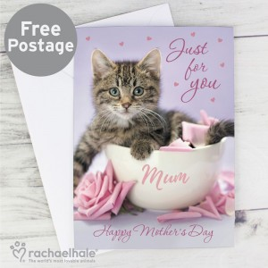 "Personalised Rachael Hale ""Just for You"" Kitten Card"