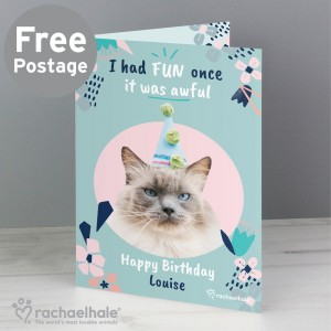 "Personalised Rachael Hale ""I Had Fun Once"" Cat Card"