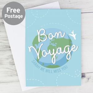 Personalised Bon Voyage Card