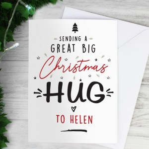 Personalised Christmas Hug Card