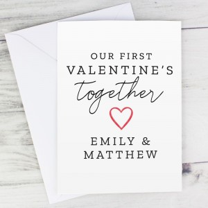 Personalised Our 1st Valentine's Day Card