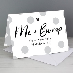 Personalised Me & Bump Card