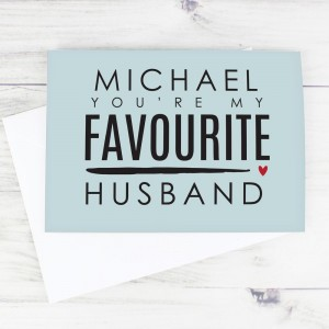 Personalised You're My Favourite Husband Card