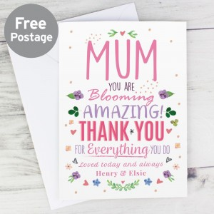 Personalised You Are Blooming Amazing Card