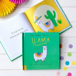 Personalised Id Rather Be A Llama Story Book - Hardback