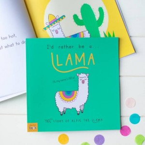 Personalised Id Rather Be A Llama Story Book - Softback