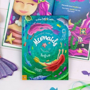 Personalised Mermaid Story Book - Hardback