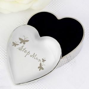 Step Mum Heart Trinket Box