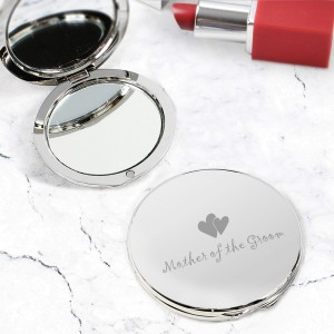 Mother of Groom Round Compact Mirror