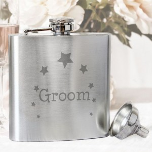 Groom Hip Flask
