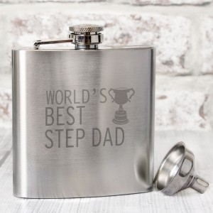 Worlds Best Step Dad  Hip Flask