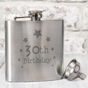 30th Birthday Hip Flask