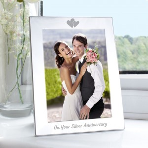 Silver 5x7 Silver Anniversary Photo Frame