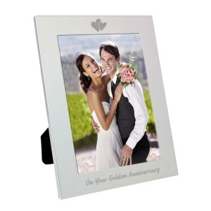 Silver 5x7 Golden Anniversary Photo Frame