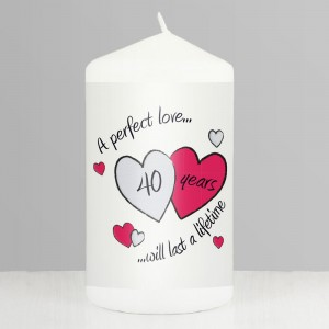 Perfect Love Ruby Pillar Candle