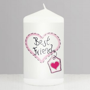 Best Friend Heart Stitch Candle