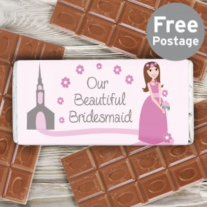 Fabulous Bridesmaid Milk Chocolate Bar