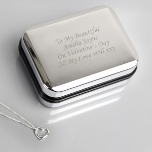 Personalised Box With Heart Necklace