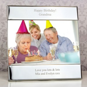 Personalised Silver Square 4x6 Photo Frame