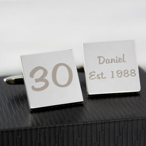 Personalised Birthday Big Age Cufflinks