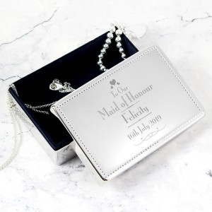 Personalised Decorative Wedding Maid of Honour Jewellery Box