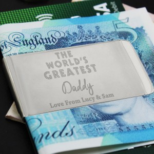 "Personalised ""World's Greatest"" Money Clip"