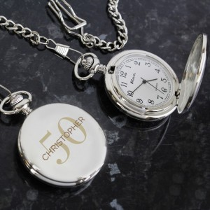 Personalised Birthday Big Age Pocket Fob Watch