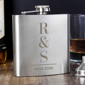 Personalised Initials Hip Flask